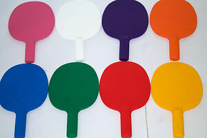 2xrobust plastique tennis de table raquettes ping pong ench res quiz gibier ebay. Black Bedroom Furniture Sets. Home Design Ideas