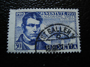 Switzerland-Stamp-Yvert-and-Tellier-N-253-Obl-A19-Tooth-Short