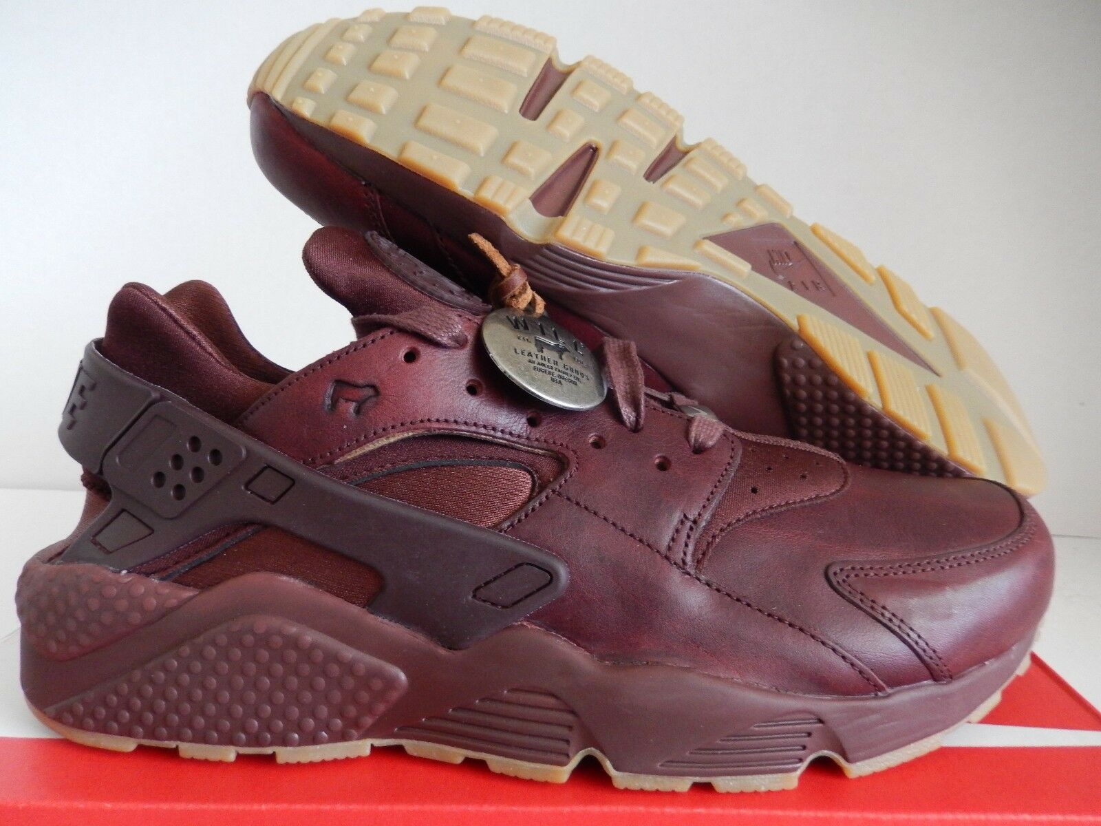 NIKE AIR HUARACHE ID WILL PREMIUM LEATHER CEDAR Marronee SZ 11 [918438-991]