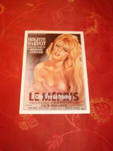 Brigitte BARDOT Le Mepris la disprezzo RARE CINEMA FILM MANIFESTO MAPPA!!!