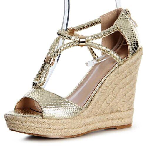 Femmes Plateforme Sandales Sandales Semelle Talon Compense escarpins bride talons compenses