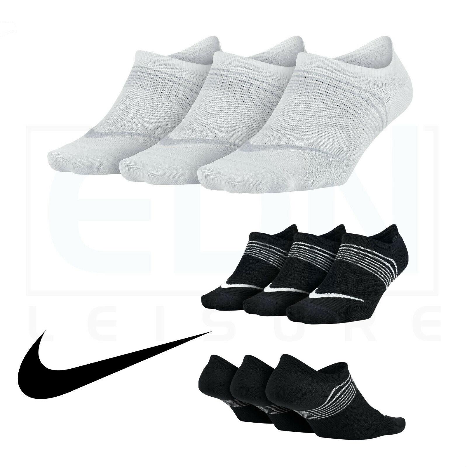 Détails sur Haut femme Nike Chaussettes No Show 3 Paires Femmes Femme Filles Cheville Sports Tailles UK 2 8 afficher le titre d'origine