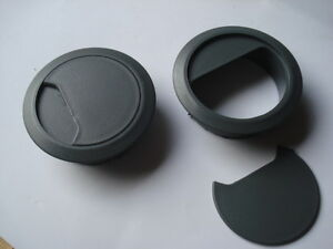 Lot de 4 passe cable passe fil PVC blanc diamètre 60//72