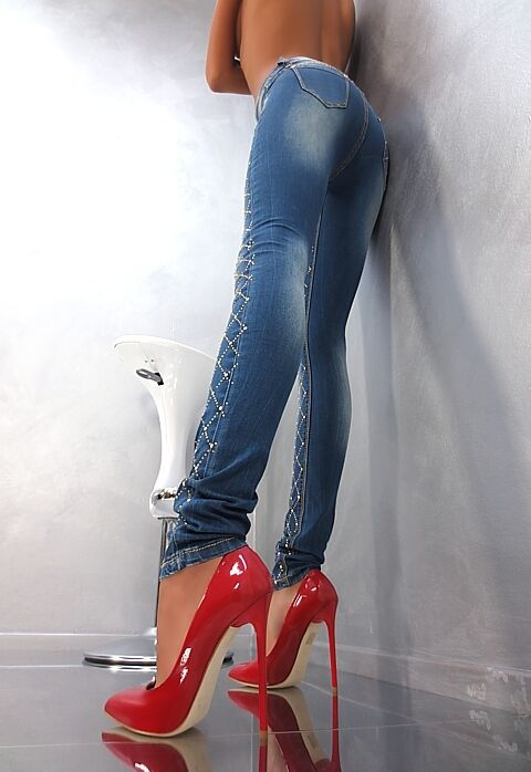 MADE IN ITALY SEXY PIGALLE HIGH HEEL B4 LEDER LUXUS PUMPS DAMEN SCHUHE LEDER B4 ROT 44 be32d1