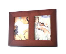 """ACEO picture frame for 2.5"""" x 3.5"""" art - two openings - WALNUT -  WOOD"""