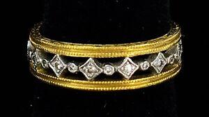 Cathy-Waterman-22K-Platinum-Diamond-Eternity-Band-Ring-Double-Milgrain-ER9221