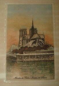 Lucien-Gautier-1890s-Hand-Tint-Etching-ABSIDE-de-NOTRE-DAME-de-PARIS-FRANCE
