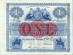 Scotland-Union-Bank-P-S805-1-pound-1913-VF