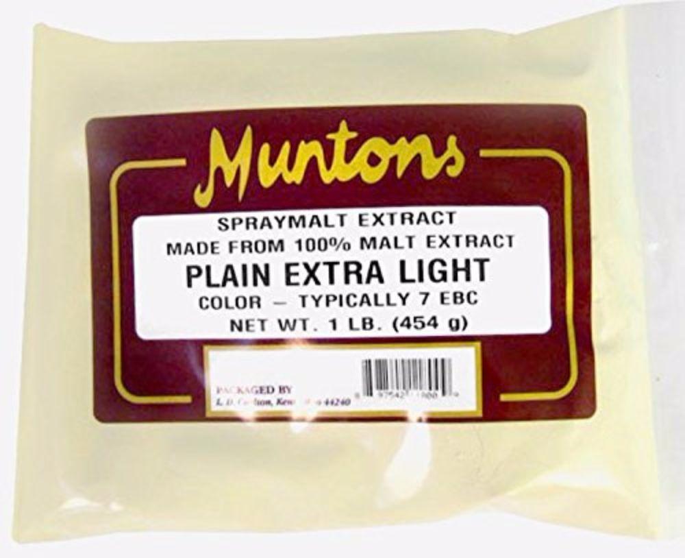 Muntons Plain Extra Light Dry Malt Extract 1 lb for Home Brew Beer Making 2
