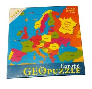 "NEW Europe GeoPuzzle 58-Piece Puzzle 2009 19""x16"" Pieces ..."