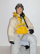 """1/4.5 ~ 1/4 Scale 15"""" Tall WWII US Navy Pacific RC Pilot w/Servo Operated Head"""