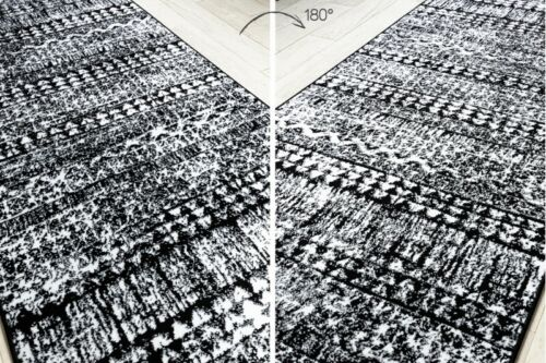 Modernen schön Läufer /'RETRO/' Vintage schwarz Breite 70-120cm original Modisch