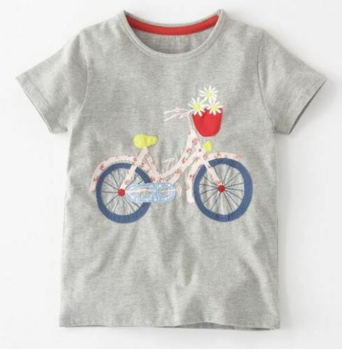 Mini Boden girls/' applique t-shirts new age 1-12 years summer top shirt cotton