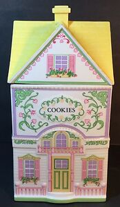 Lenox-Village-Cottage-Spice-Or-Cookie-Jar-Container-with-Lid-1991