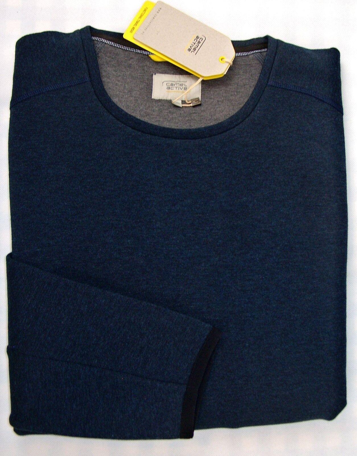 CAMEL Active Sweatshirt langarm Übergröße 2XL 4XL 5XL dunkelblau NEU Jetzt-25%