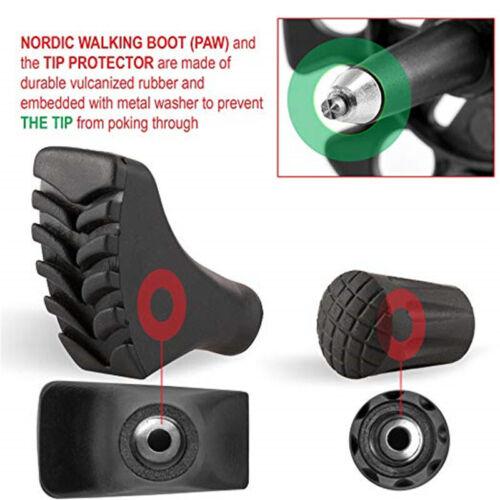 4PC Crutch Canes Leg Rubber Feet Tips End Hiking Stick Walking Pole Cap Non-s 9K