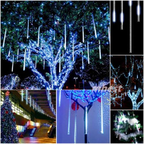 8*30cm 144 LED Meteor Shower Rain Lights Waterproof Tubes String for Xmas NEW!
