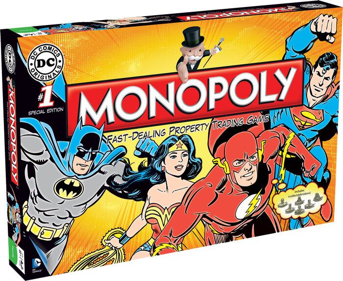DC COMICS - DC Comics Originals Monopoly Board Game (Winning Moves)  NEW