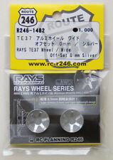 Kyosho Mini Z R246-1482 RAYS TE37 Aluminum Wheel Wide / Silver (Offset 0mm)