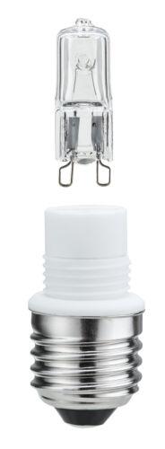 Paulmann Sockelset E27 mit 70W G9 klar Minihalogen Halogenlampe Glühlampe Sockel