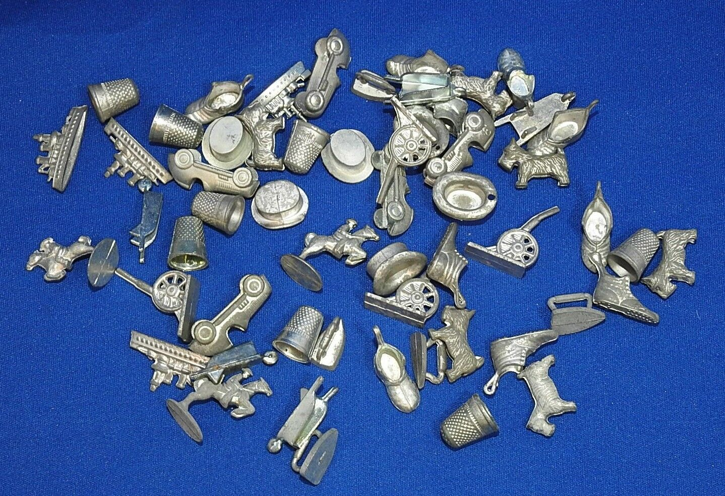Lot of 56 MONOPOLY Vintage Tokens - Through the Years