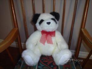 Gund Panda Bear Suede Paws 2001 Retired 46210