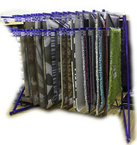 Details About Rug Stand Swing Arm Carpet Display 20 6x4 5x3 Double Tier
