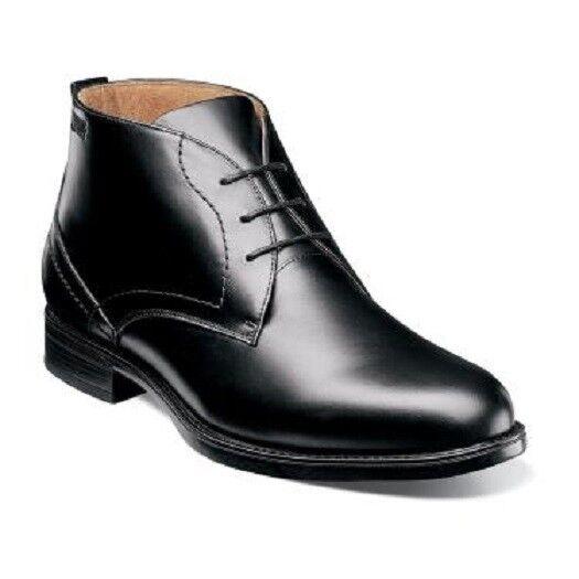 Florsheim Midtown Waterproof Plain Toe Chukka boot Black Leather 12156-001