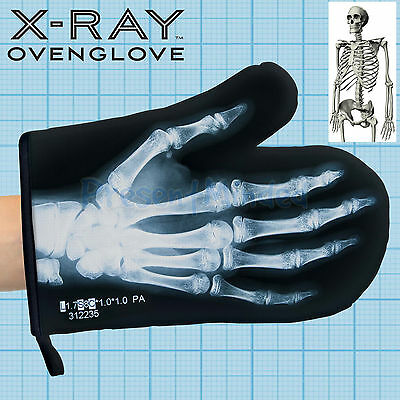 X-Ray Oven Glove Skeleton Bone Funny Funky Novelty Oven Mitts Or Pot Holder Gift