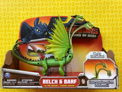 HOW TO TRAIN YOUR DRAGON BERK BELCH /& BARF ZIPPLEBACK FLEX NECKS LARGE DRAGON