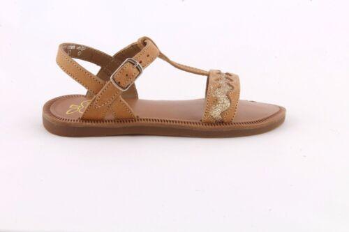 Pom d/'Api Plagette Croquet Sand//glitter leather girl/'s sandal