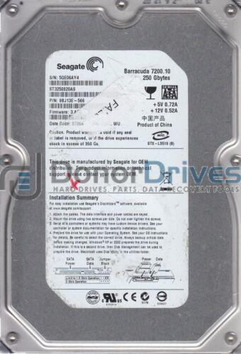 ST3250820AS 5QE WU FW 3.AFE Seagate 250GB SATA 3.5 Hard Drive PN 9BJ13E-566