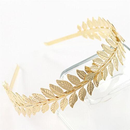 Women Hair Accessories Laurel Leaf Branch Headband Crown Leaves Hair Band TDO