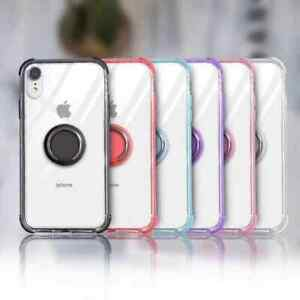 For-iPhone-XR-XS-MAX-X-7-8-Plus-Clear-TPU-Case-Cover-With-Magnetic-Ring-Holder