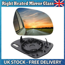 Left Passenger Wide Angel Wing Side Heated Door Mirror Glass for Audi A4 2008-09