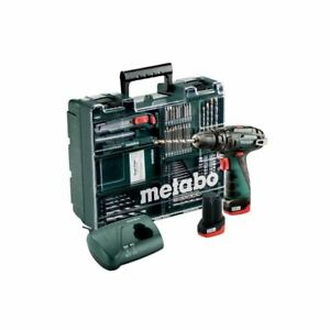 Metabo-10-8V-Akku-Schlagbohrmaschine-PowerMaxx-SB-Basic-Set-2x-Akku-2-0Ah-Zu