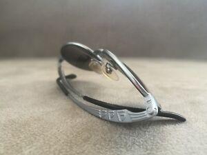 Jean Paul Gaultier JPG OVAL Vintage Sunglasses 58-6107 Silver \ Blue Lenses