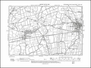 OLD ORDNANCE SURVEY MAP NE LINCOLNSHIRE 1906 GRIMSBY CLEETHORPES BROCKLESBY RIBY