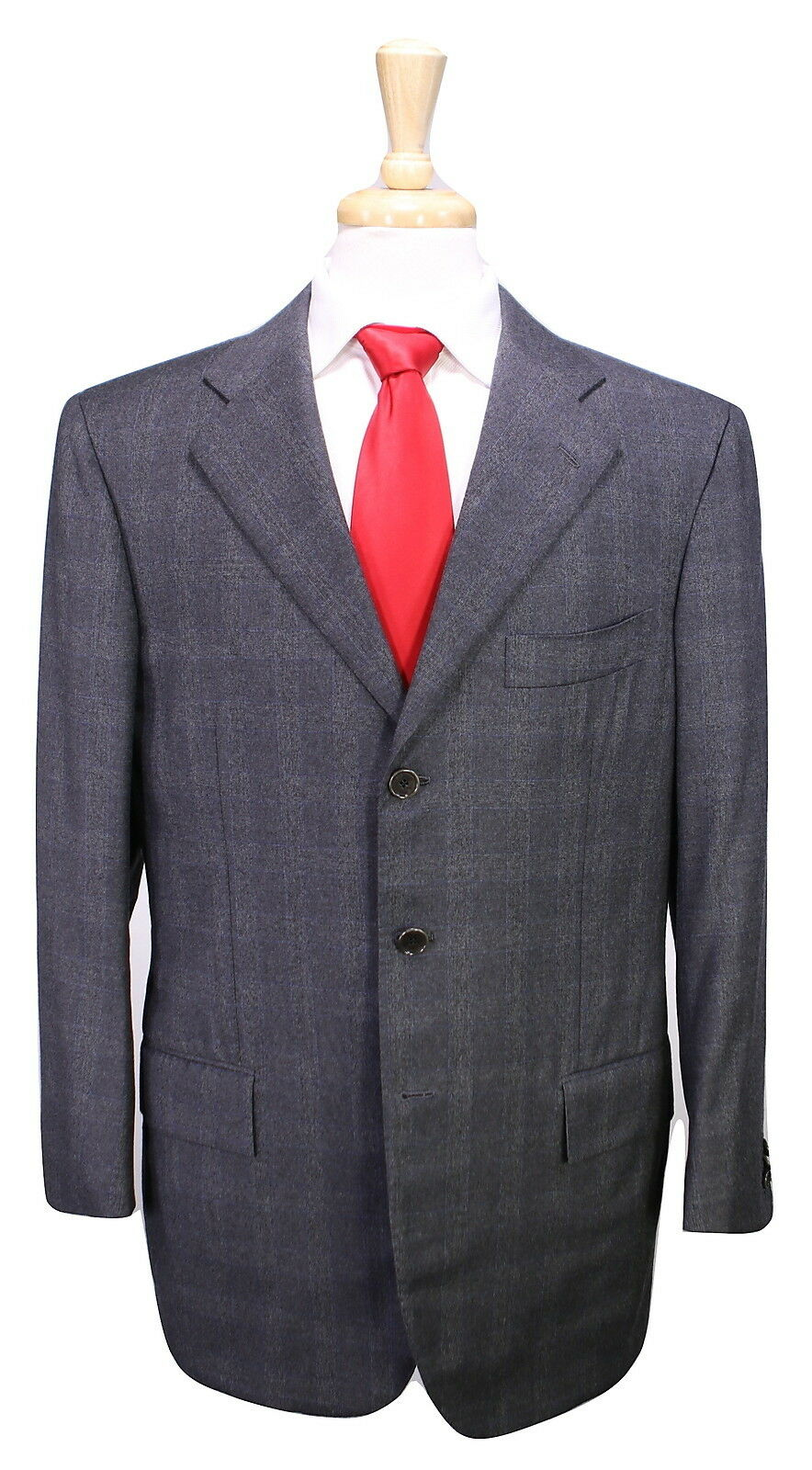 SARTORIA ATTOLINI  Napoli grau Glen Plaid Super 130's Wool Flannel Suit 40R