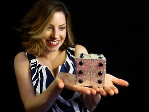 Kathrine Baumann LUCKY DICE VEGAS swarovski crystal clutch ...