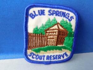 BOY-SCOUTS-BLUE-SPRINGS-SCOUT-RESERVE-PATCH-VINTAGE-COLLECTOR-BADGE