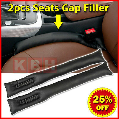 2pcs PU Leather Car Seats Leakproof Stop Gap Filler Padding Pad Seam Holster j