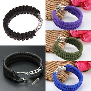 Image Is Loading New Outdoor Survival Paracord Bracelet Parachute Cord Wristband