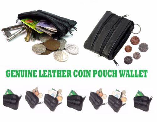 Onorevoli uomini Genuine REAL LEATHER SMALL COIN CARD PORTACHIAVI WALLET POUCH Borsetta zp4c