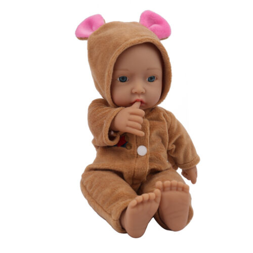 Mini 11/'/' Full Vinyl Silicone Reborn Baby Doll Lifelike Dolls Looking Gift pink