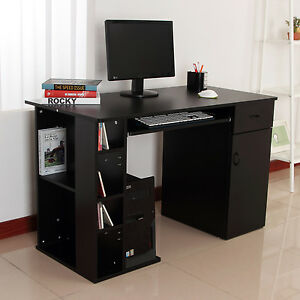 Home Office Computer Desk Study Pc Table W Storage