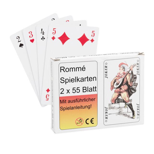 2x Spielkarten 54 Blatt Kartenspiel Romme Poker Canasta Bridge Skat Karten