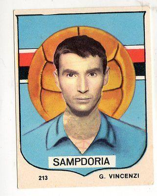 FIGURINA CALCIATORI PANINI 1964//65 RECUPERO SAMPDORIA VINCENZI