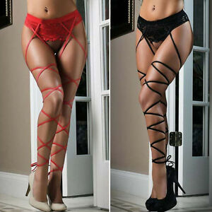 43796f569e6 Women Sexy Hot Lace Top Thigh-Highs Stockings Socks + Suspender ...