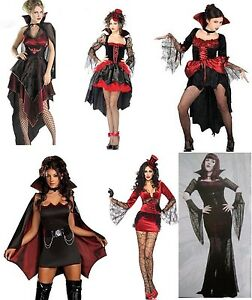 Image is loading twilight-v&ire-diaries-Ladie-VAMPIRE-COSTUME-GENUINE-UK- & twilight vampire diaries Ladie VAMPIRE COSTUME GENUINE UK SIZES 6-16 ...